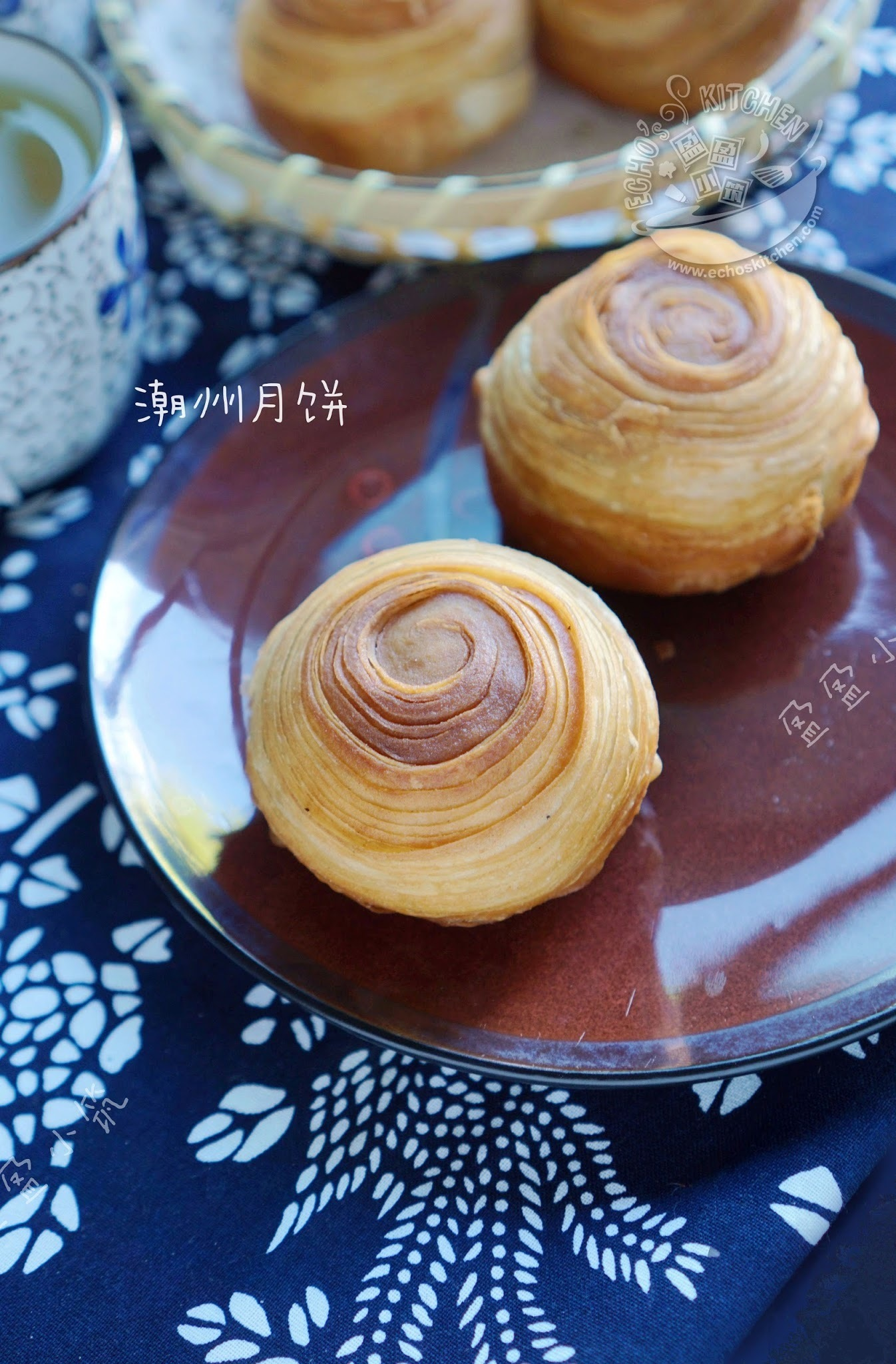 Teochew Mooncake (With Yam and Pumpkin Fillings) 潮州芋头南瓜月饼