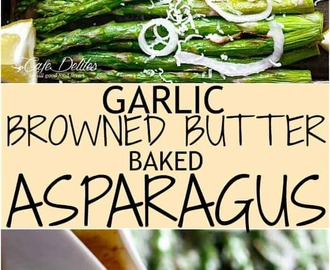 Garlic Browned Butter Baked Asparagus