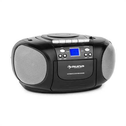BoomBoy Ghettoblaster Radio CD/MP3-Player Kassettbandspelare Svart