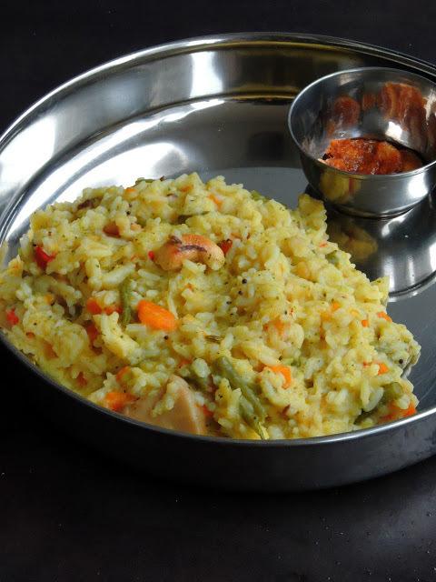 Mixed Vegetable Pongal - Version 2