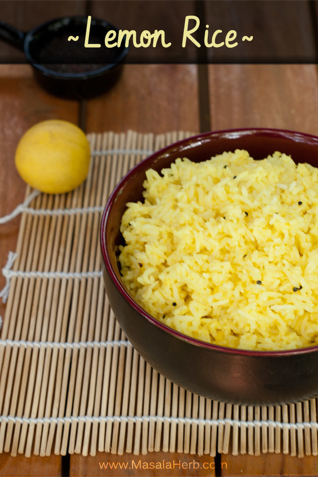 Lemon Rice Recipe – How to make South Indian Lemon Rice [EASY]