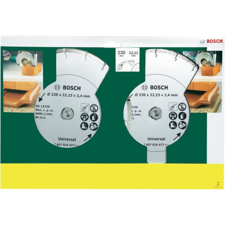 2-packDiamant-kapblad 230 mm byggmaterial Bosch Accessories Universal 1 st