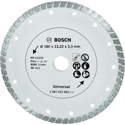 Diamant-kapblad Turbo 180 mm byggmaterial Bosch Accessories Universal 1 st