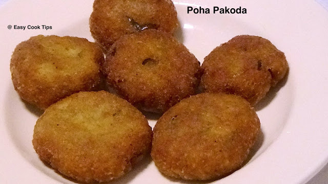 Poha Pakoda- Quick And Easy Evening Veg Snacks