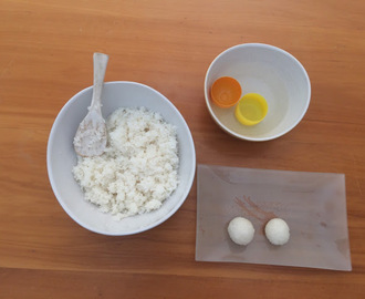 How to make perfect rice balls with the plastic Kinder Surprise capsule