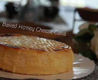 烤蜂蜜芝士蛋糕Baked Honey Cheese Cake