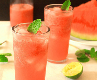 Watermelon mint cooler recipe | watermelon juice recipe with  a hint of mint and lime