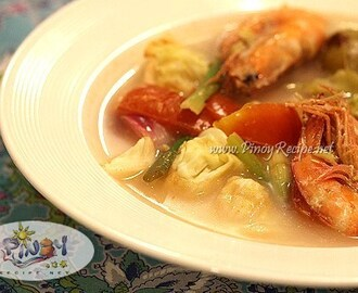 Shrimp Sinigang with Cabbage Recipe