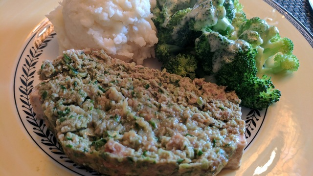 Turkey & Sausage Meatloaf with Spinach
