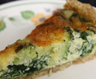 Broccoli and Spinach Quiche Recipe
