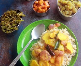 Palakkottai Mango curry - Chakkakuru Manga Curry -  Jackfruit Seeds Mango Curry - Jackfruit seeds recipe