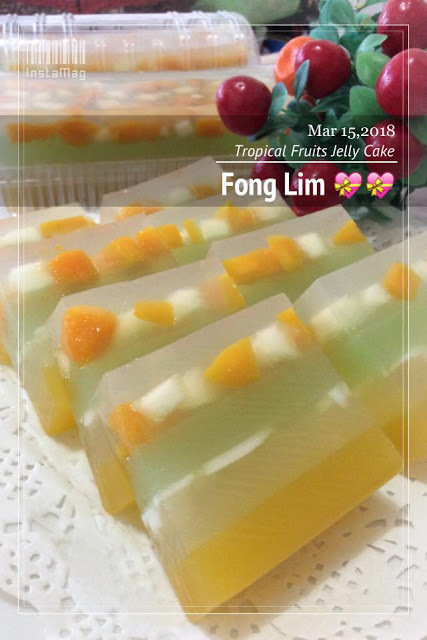 ~~ Tropical Fruits Jelly Cake 热带水果燕菜蛋糕 ~~