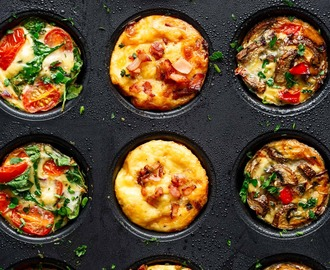 Breakfast Egg Muffins 3 Ways