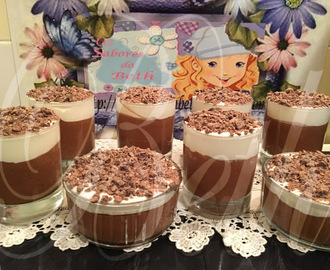 Mousse de Chocolate com Chantilly / Mousse au chocolat et Chantilly