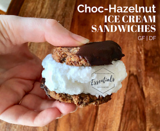 Choc-Hazelnut Ice Cream Sandwiches