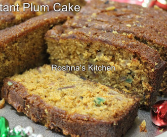 Instant Christmas Fruit Cake / Plum Cake without Alcohol