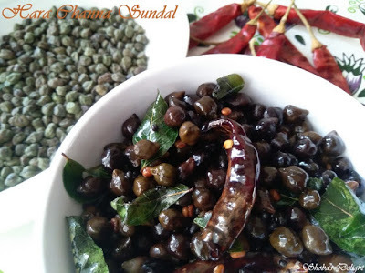 Hara Chana (Green Chickpea) Sundal