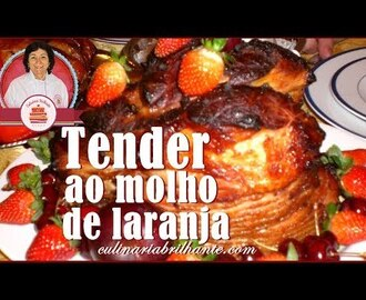 Tender ao molho laranja  de natal -How to make christmas ham