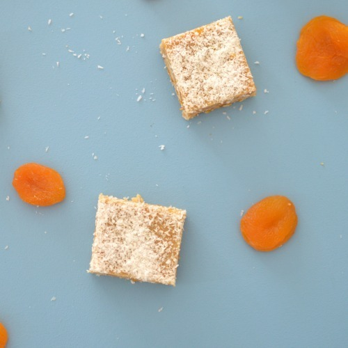 No Bake Apricot and Coconut Slice