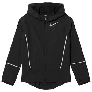 NIKE Hooded Löpar Jacka Svart M (10-12 years)