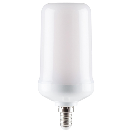 Flammande LED-lampa Gravitationssensor E14-sockel