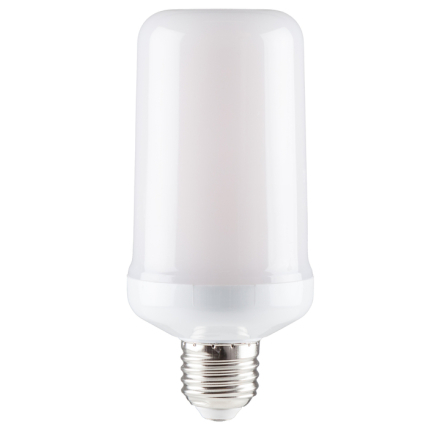 Flammande LED-lampa Gravitationssensor E27-sockel