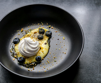 Meringue, Custard, Blueberry and Passionfruit