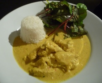 Indisk kycklingcurry