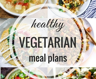 Healthy Vegetarian Meal Plans: Week 62