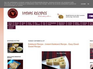 Vysya's Recipes
