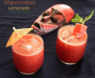 Watermelon Lemonade / Fresh Watermelon Lemonade Recipe- Summer Drinks