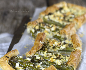 Asparagus and goat cheese tart per il Club del 27