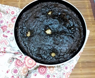 Eggless Chocolate Skillet Cookie Cake