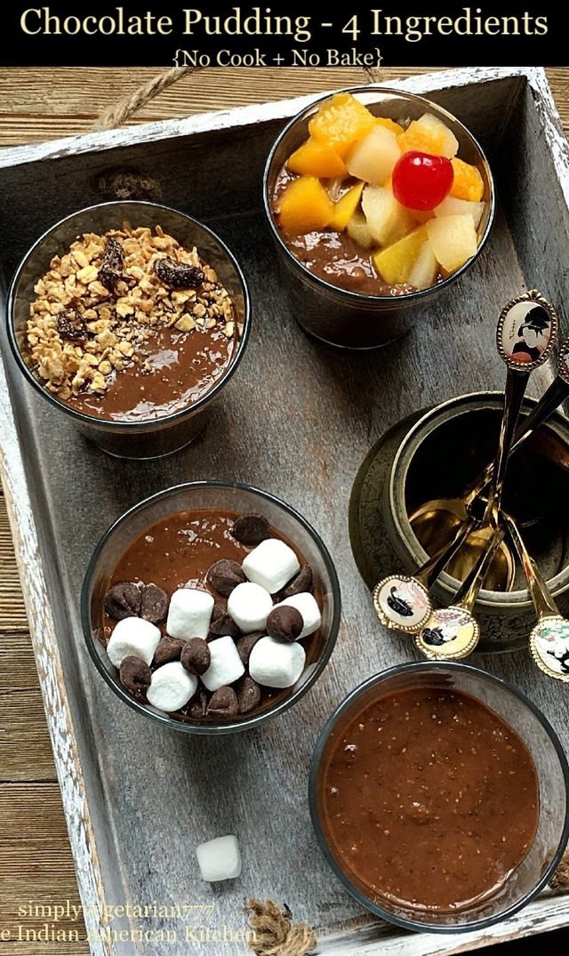 Chocolate Pudding No Cook No Bake 4 Ingredients Recipe