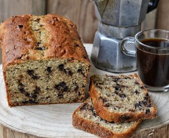 Plum Cake integrale con gocce di cioccolato – Whole wheat Plum Cake with chocolate drop