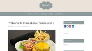 Journal of a French Foodie