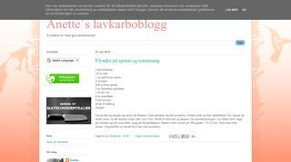 Anette`s lavkarbo blogg