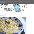 Blue vegan pig