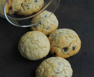 Eggless Oatmeal & Chocolate Chips Cookies