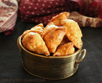 Chicken Samosa Recipe / Chicken Mini Samosas / Chicken Cocktail Samosa