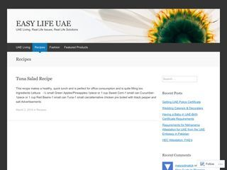 EASY LIFE UAE » Recipes