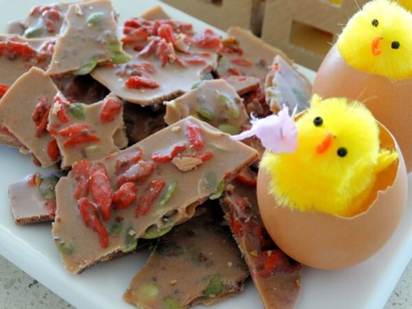 Dairy Free Easter Chocolate Bark