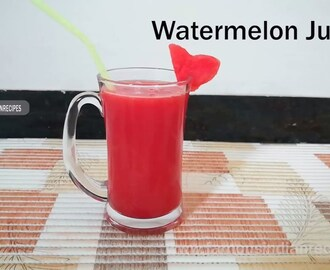 Famous Indian Recipes | Watermelon Juice | Watermelon Drink Recipes - YouTube