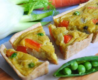 Vegan mini quiche al curry / Vegan mini quiche with curry cream