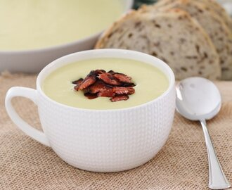 Potato & Leek Soup with Crispy Bacon