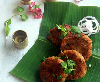 Kachhe Kele Ke Kebab Recipe - Gluten free raw banana tikki - Valaikkai cutlet - Snack recipes