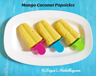 MANGO COCONUT MILK POPSICLES