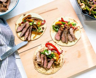 Gegrilde steak fajitas