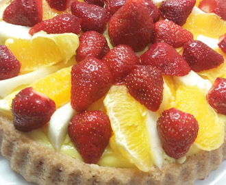 Torta morbida alla frutta senza burro senza uova con base al quark - Soft cake with fruites, without butter and without eggs, with quark (white cheese)