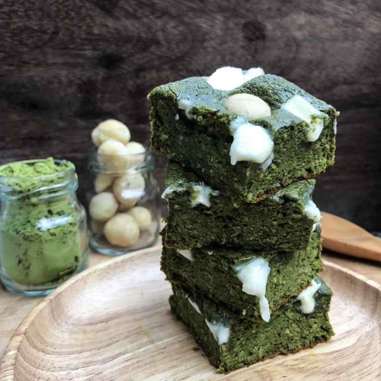 Deliciously Moist, Guilt-Free Matcha Brownies